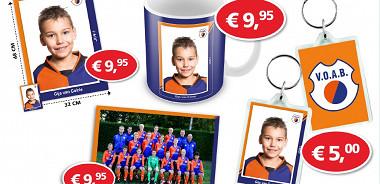 Merchandise VOAB-voetbalplaatjes