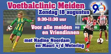 Zondag 18 augustus: Clinic meiden