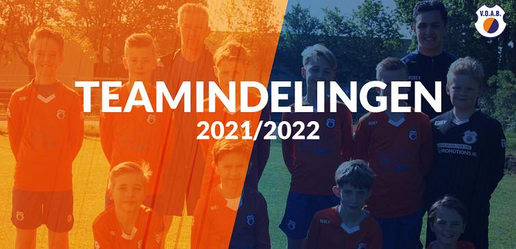 Update teamsamenstellingen seizoen 2021 2022