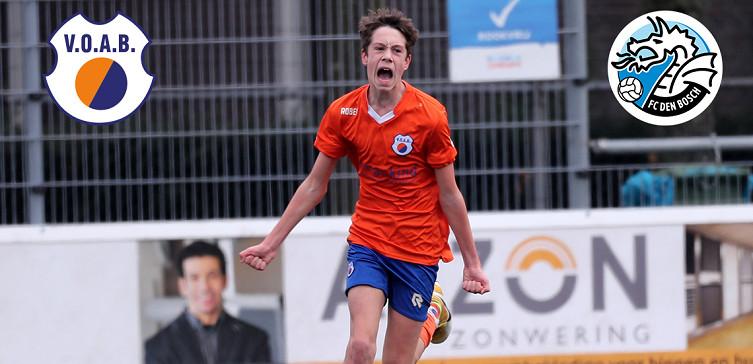 VOAB JO13-1 speelt gelijk tegen FC Den Bosch